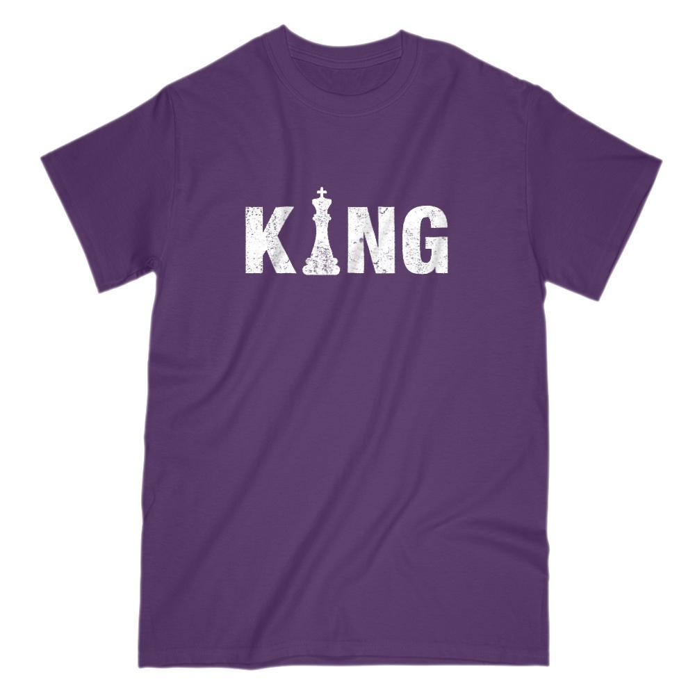 KING Chess King Graphic Saying T-Shirt Graphic T-Shirt Tee BOXELS