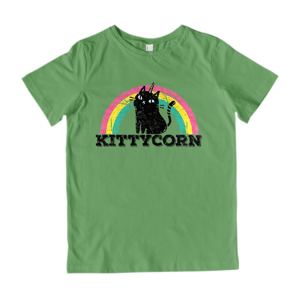 Kittycorn (kids) Kitty Kitten Unicorn Rainbow Magical Tee Graphic T-Shirt Tee BOXELS