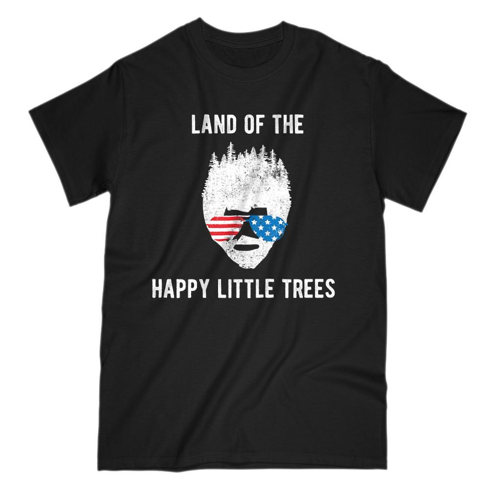 Land of the Happy Little Trees Patriotic Bob Ross T-shirt