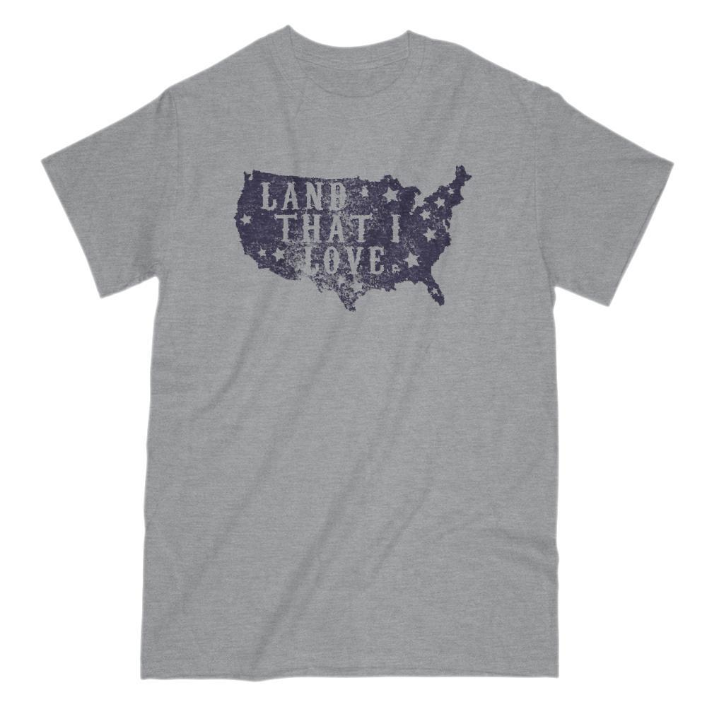 Land That I Love Map USA Patriotic T-Shirt