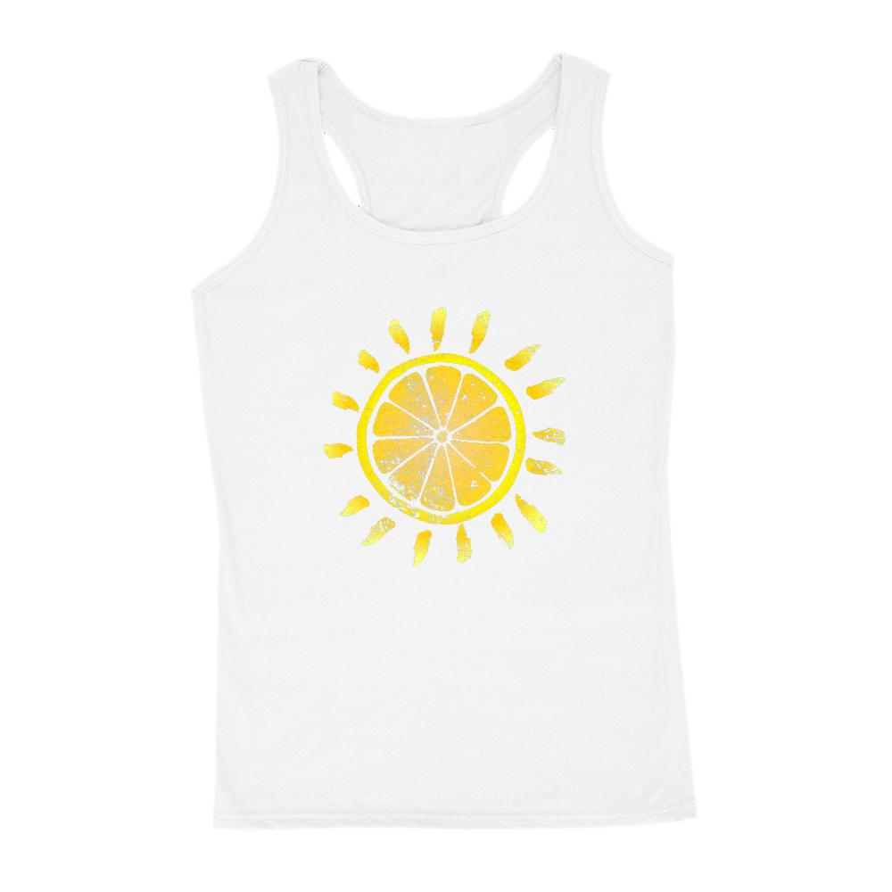 Lemon Sunshine Fruity Summer Outdoors Women's Tank Graphic T-Shirt Tee BOXELS