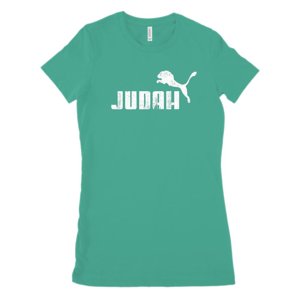 Lion of Judah Graphic Christian Gospel Religious (Women's BC 6001 Soft Tee) Graphic T-Shirt Tee BOXELS
