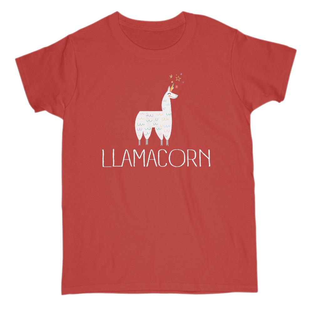 Llamacorn Magical Llama Unicorn (womens) Graphic Tee Graphic T-Shirt Tee BOXELS