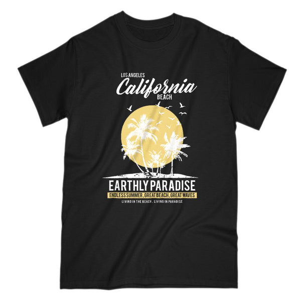 Los Angeles California Beach Earthly Paradise T-shirt Graphic T-Shirt Tee BOXELS