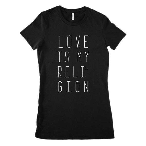 Love Is My Religion (Women's BC 6004 Soft Tee) Graphic T-Shirt Tee BOXELS