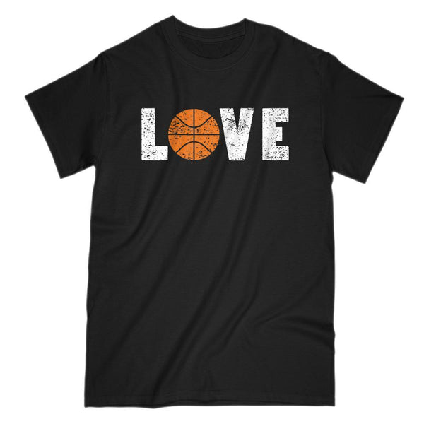 Love of Basketball Grunge Retro Saying Graphic T-Shirt Graphic T-Shirt Tee BOXELS
