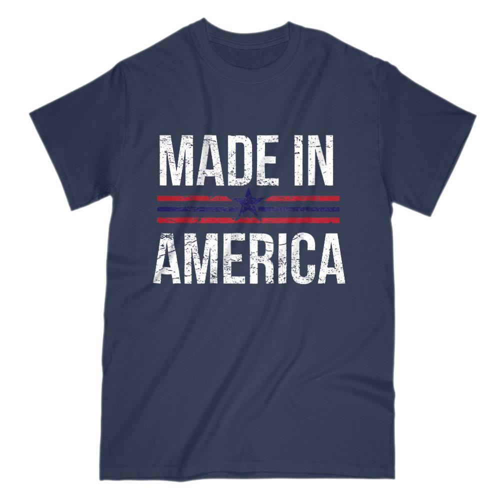 Made In America Grunge Graphic T-Shirt Graphic T-Shirt Tee BOXELS