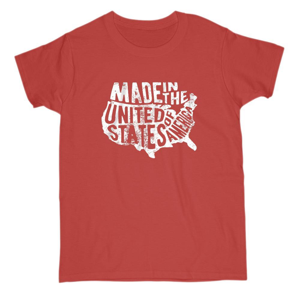 Made in the USA United States of America Patriotic Graphic T-shirt Graphic T-Shirt Tee BOXELS