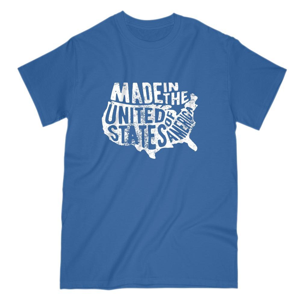 Made in the USA United States of America Patriotic Graphic T-shirt