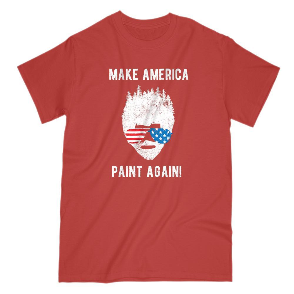 Make America Paint Again Bob Ross Patriotic T-Shirt Graphic T-Shirt Tee BOXELS