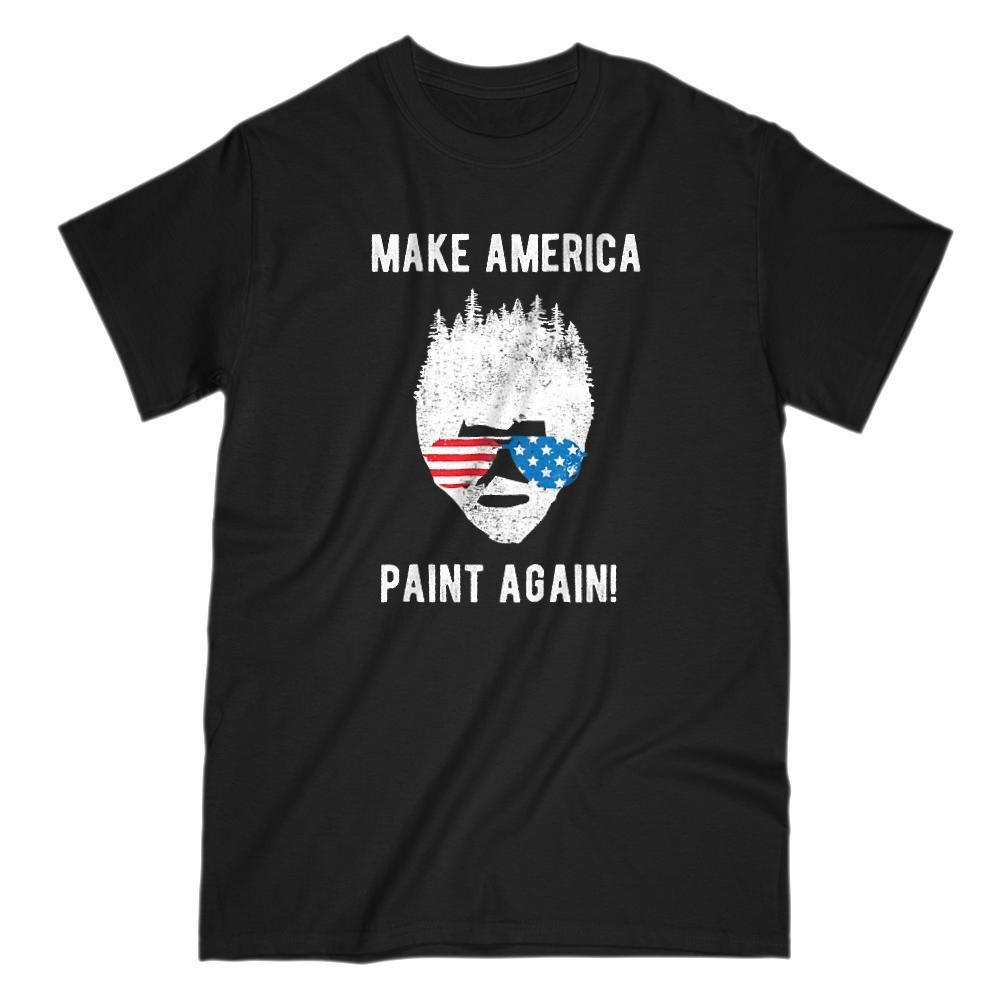 Make America Paint Again Bob Ross Patriotic T-Shirt