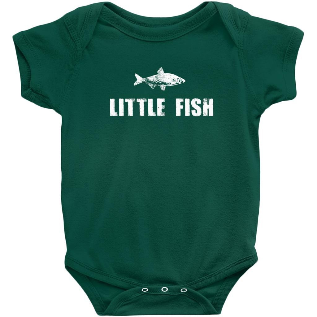Matching Set | Little Big Fish | 3 of 3 BABY Onesies| Family, Reunion, Vacation Graphic T-Shirt Tee BOXELS