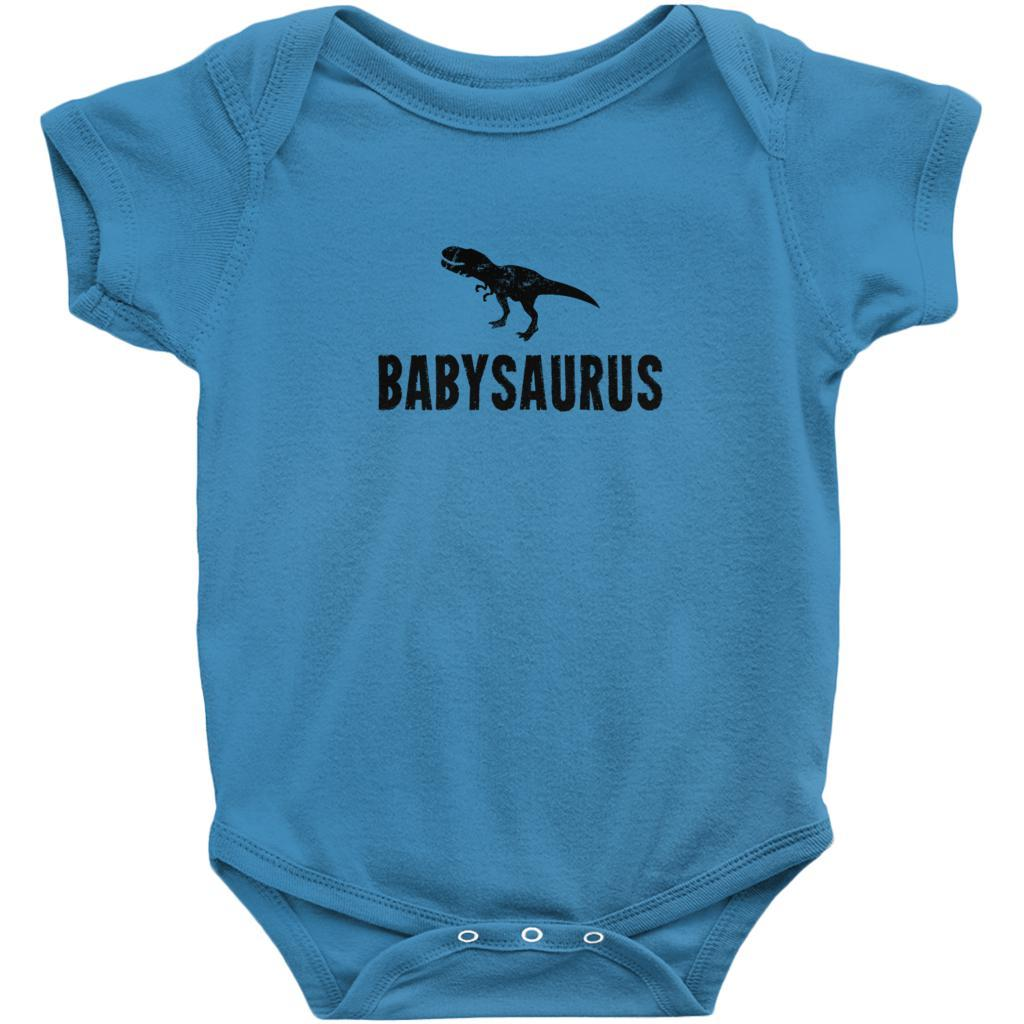 Matching Set | Saurus (dino) | 4 of 4 BABY Onesies | Family, Reunion, Vacation Graphic T-Shirt Tee BOXELS