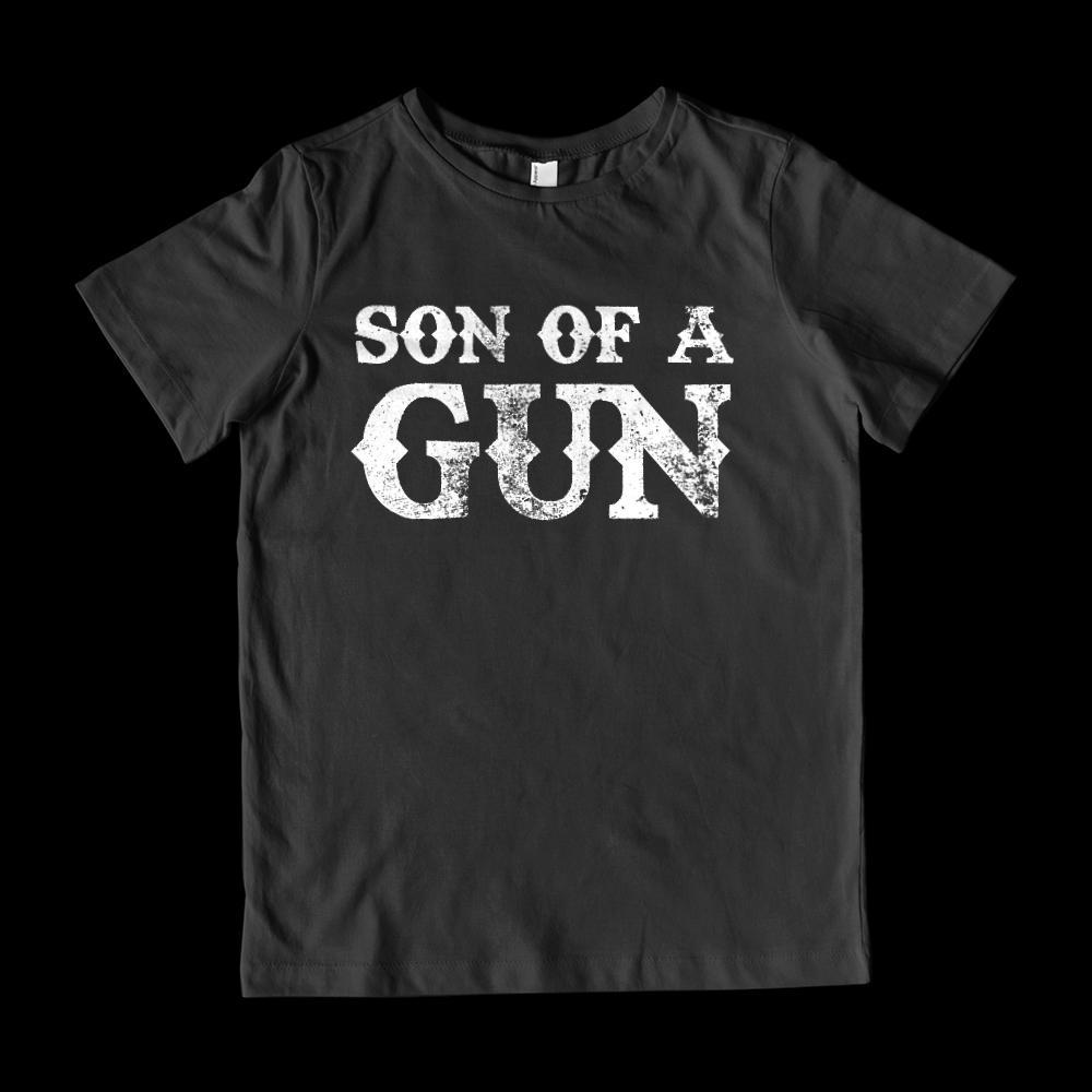 Matching Set | Son of A Gun | Kids (unisex) T-shirt | Matching Family Sets Graphic T-Shirt Tee BOXELS