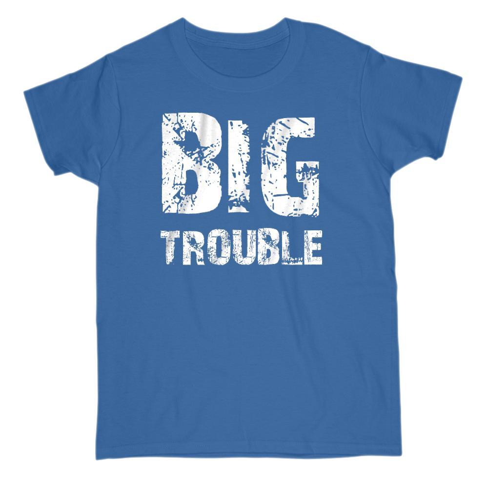 Matching Set | Trouble (Big, Little) | 1 of 3 ADULT T-Shirt | Family, Reunion Graphic T-Shirt Tee BOXELS