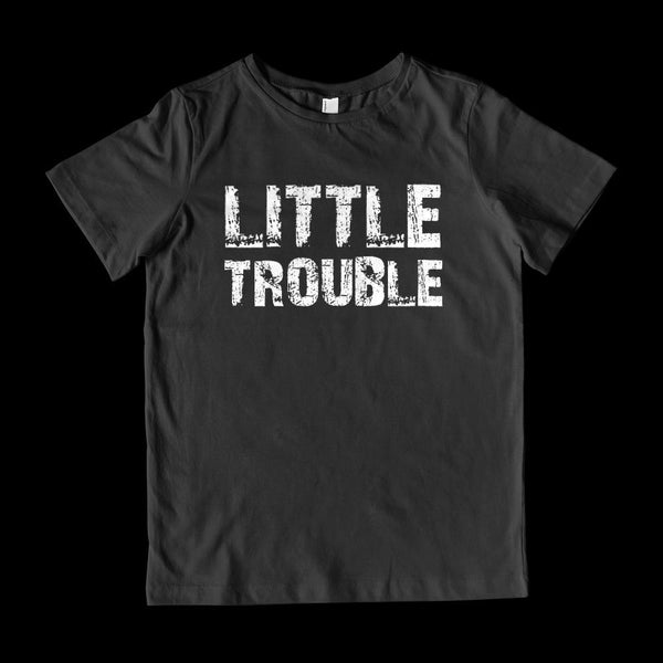 Matching Set | Trouble (Big, Little) | 2 of 3 KID T-Shirt | Family, Reunion Graphic T-Shirt Tee BOXELS