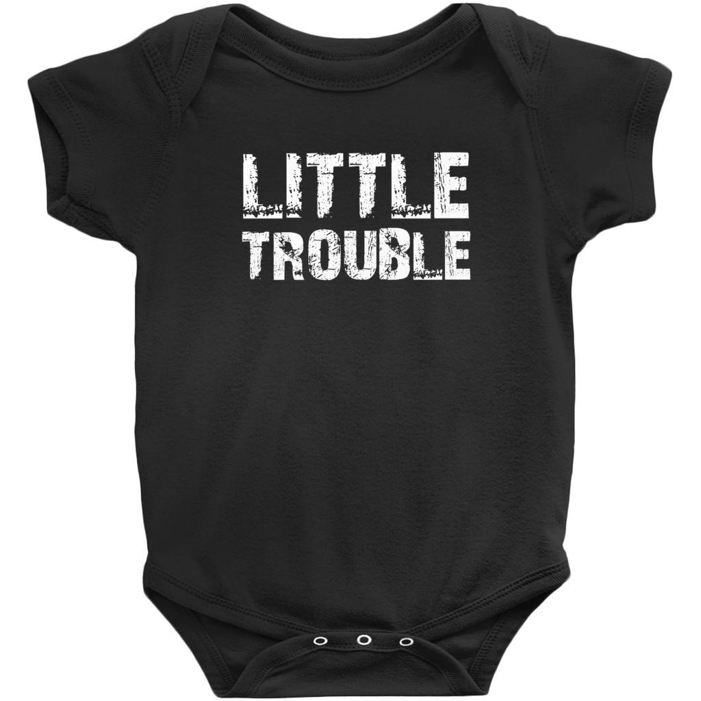 Matching Set | Trouble (Big, Little) | 3 of 3 BABY Onesies | Family, Reunion