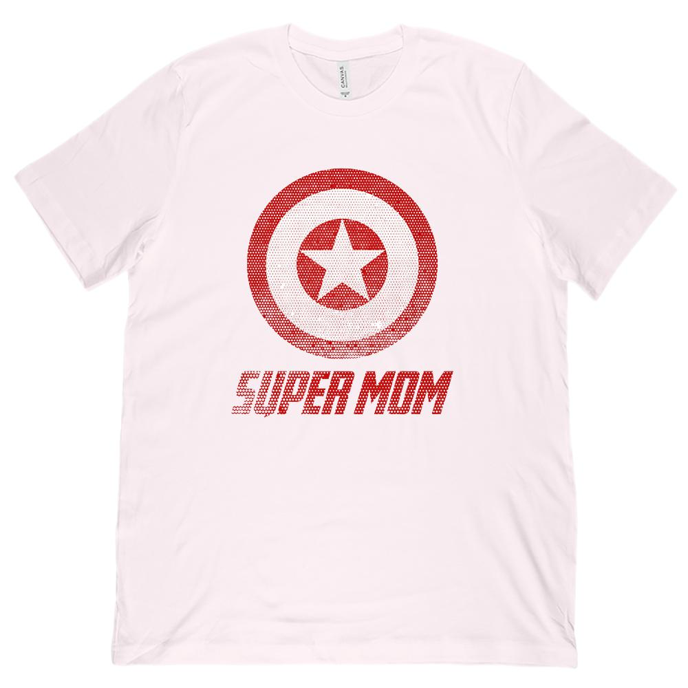 Matching Set | Unisex (men) Soft BC 3001 Tee | Super Shield | 02 of 04 MOM Graphic T-Shirt Tee BOXELS