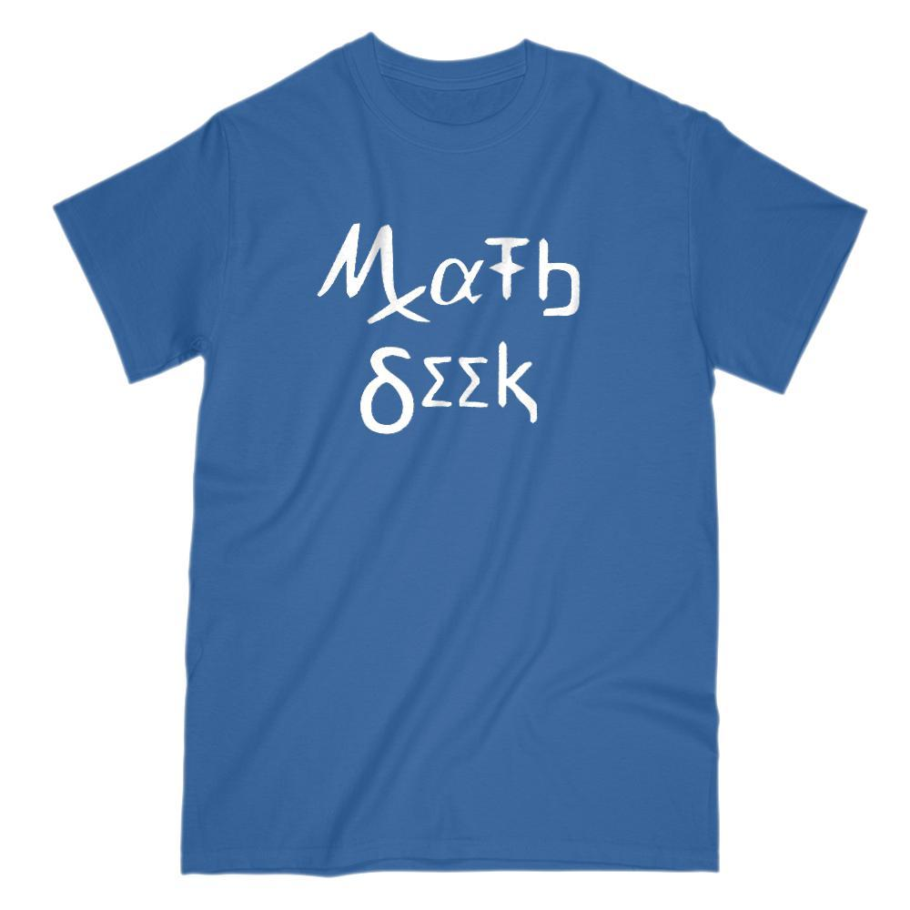 Math Geek Spelling in Math Nerd Symbols T-Shirt Graphic T-Shirt Tee BOXELS