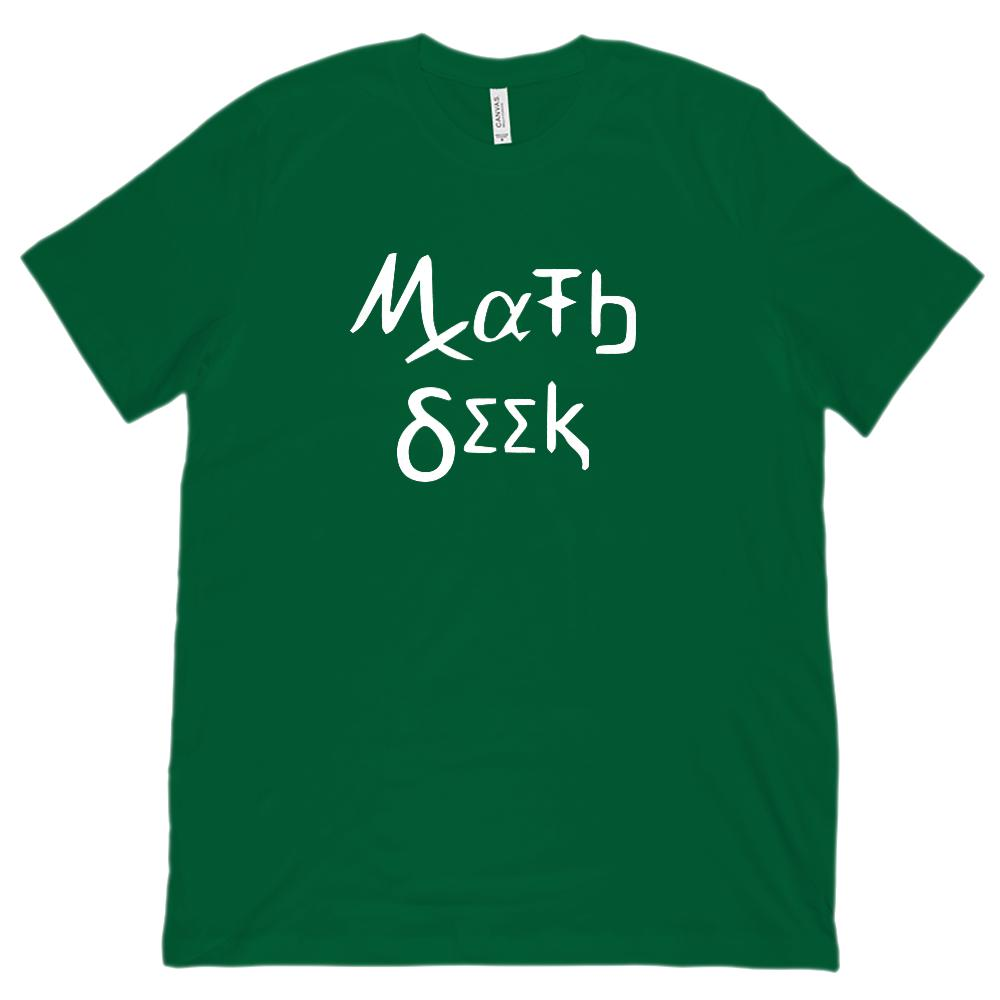 Math Geek (Unisex BC 3001 Soft Tee) Teacher, Mathematics Greek Graphic T-Shirt Tee BOXELS