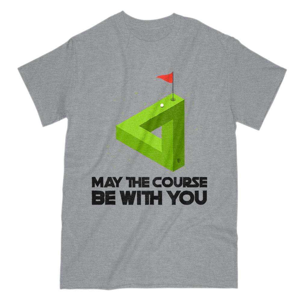 May the Course Be With You (mens) Golf Parody Graphic T-Shirt Tee BOXELS
