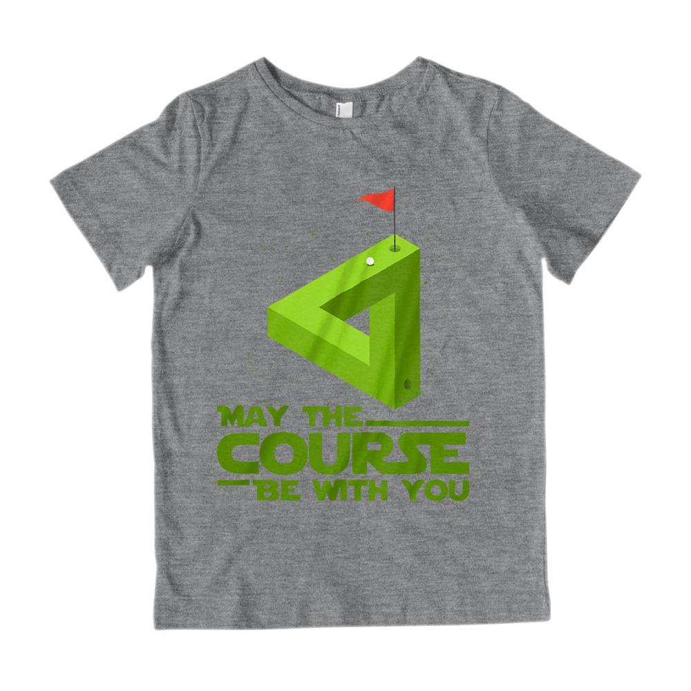 May the Course (golf) Be With You Star Parody Wars Graphic Tee Graphic T-Shirt Tee BOXELS