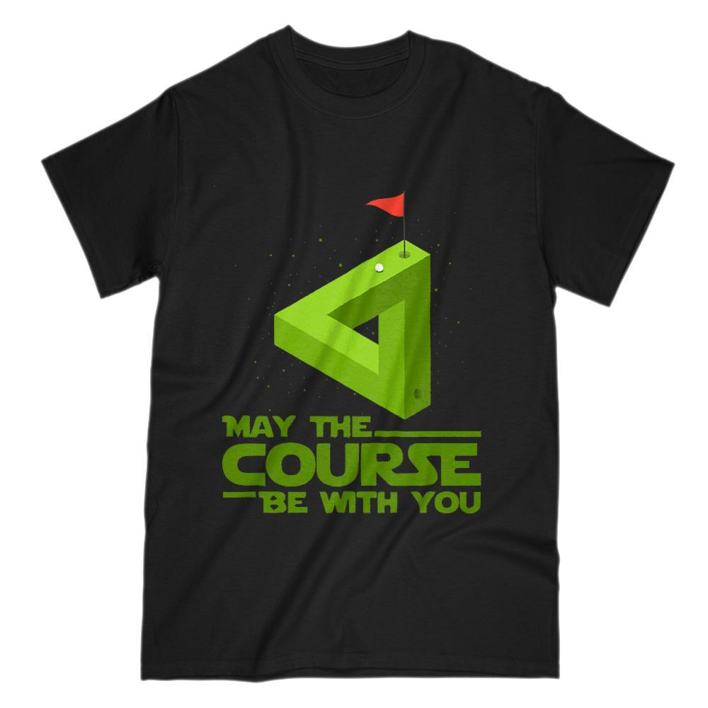 May the Course (golf) Be With You Star Parody Wars Graphic Tee