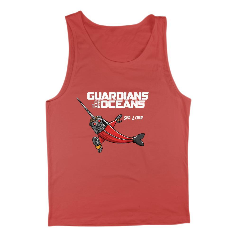 Men's Guardians of the Oceans Sea Lord Movie Parody Graphic Tank Top Graphic T-Shirt Tee BOXELS