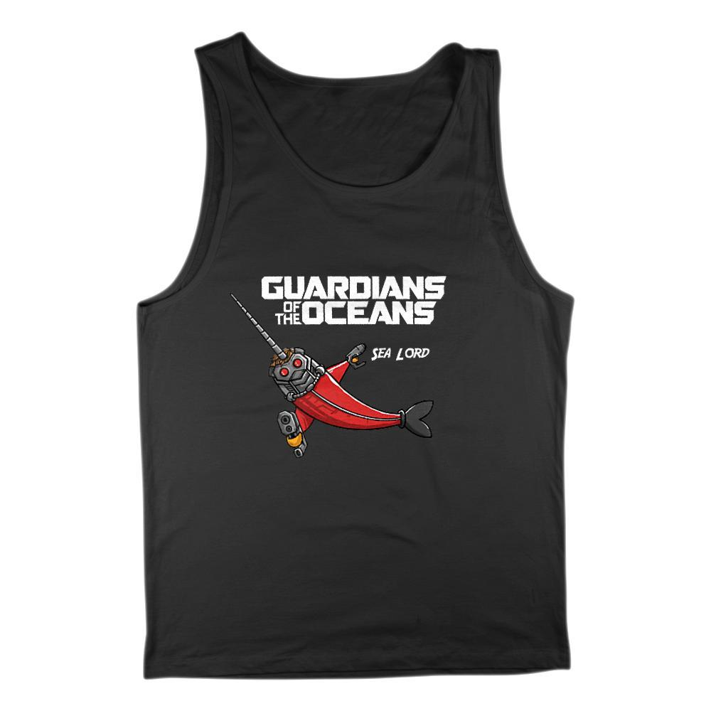Men's Guardians of the Oceans Sea Lord Movie Parody Graphic Tank Top