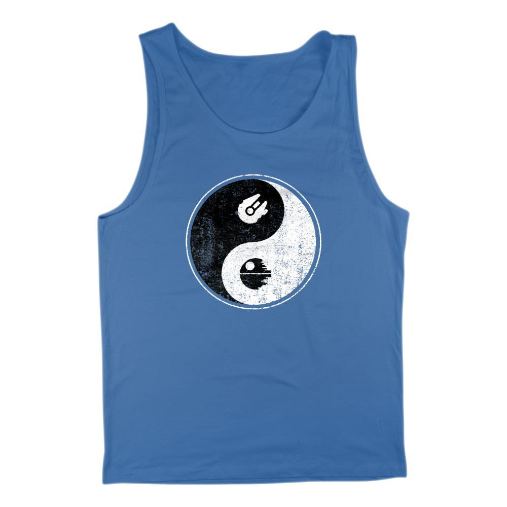 Men's Tank - Yin Yang Yang Space Star Parody of Wars Graphic Balance Tank Graphic T-Shirt Tee BOXELS