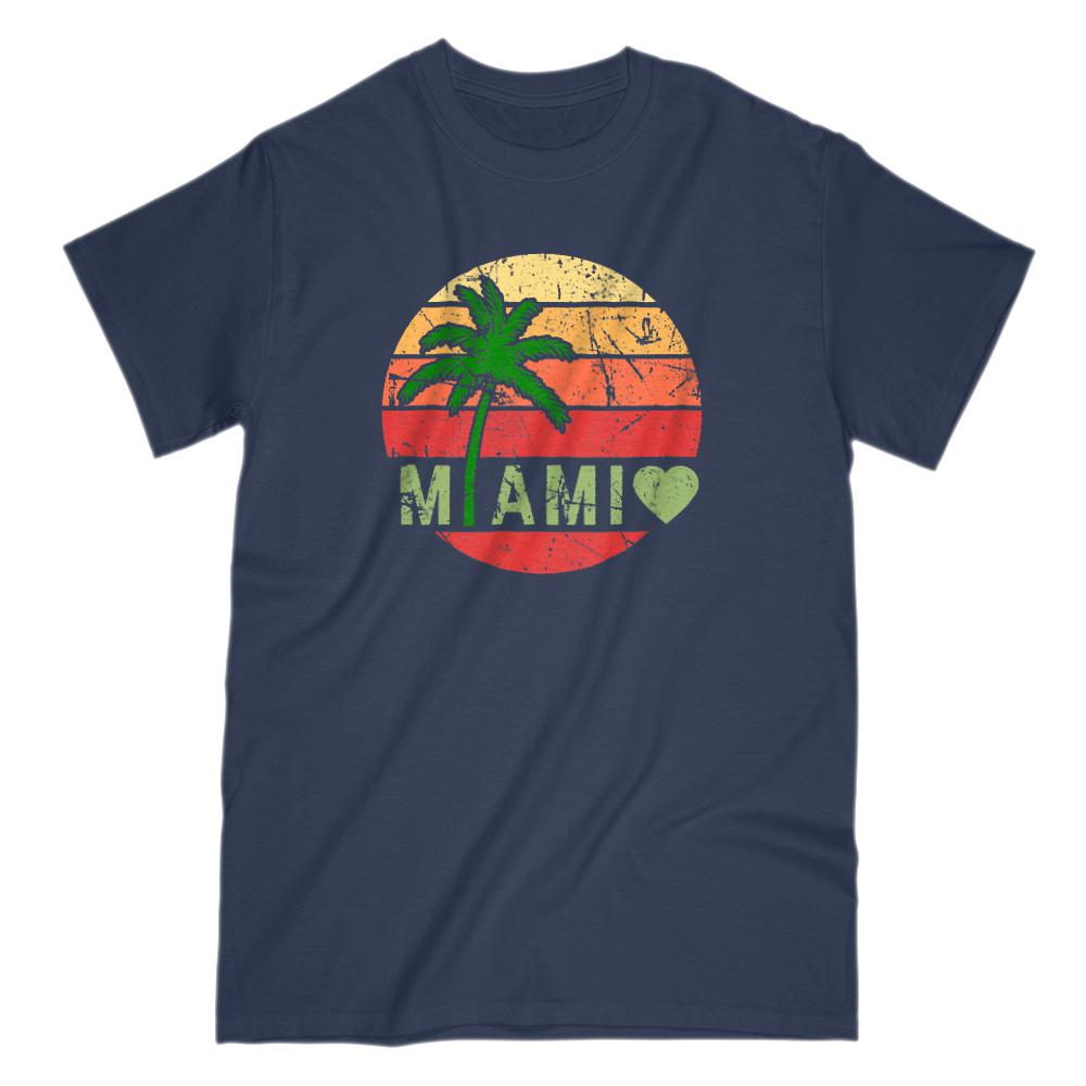 Miami Sunset Vacation Graphic T-Shirt Graphic T-Shirt Tee BOXELS