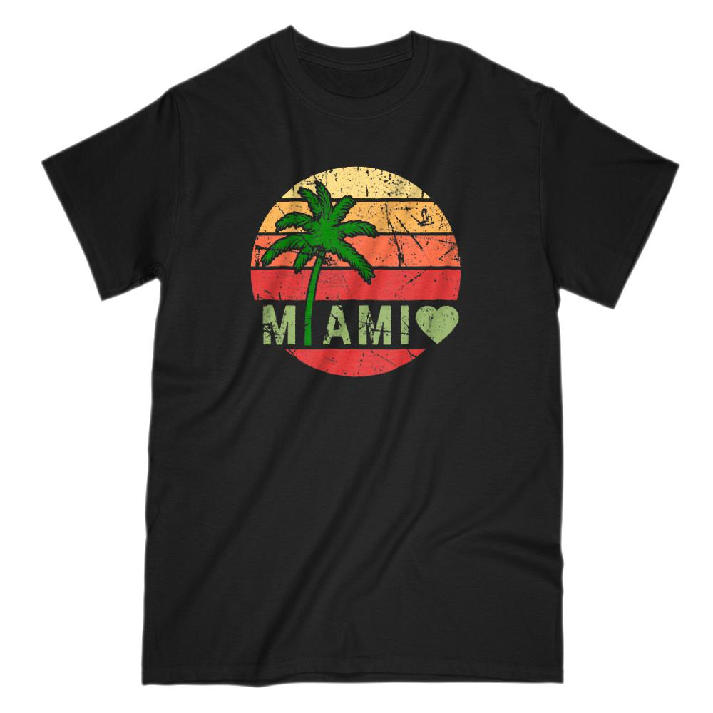 Miami Sunset Vacation Graphic T-Shirt