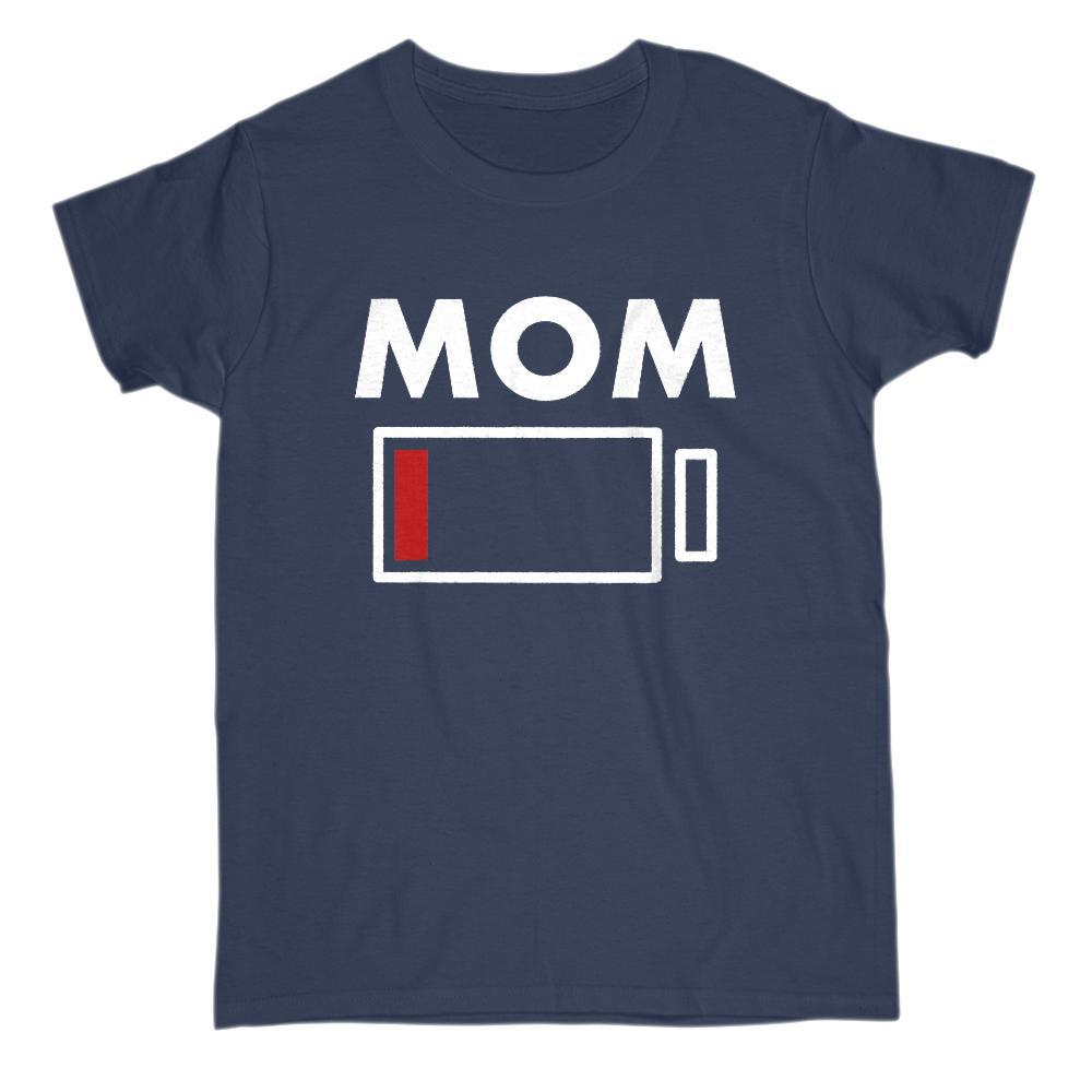 Mom Drained Battery Charge Funny Graphic Tee