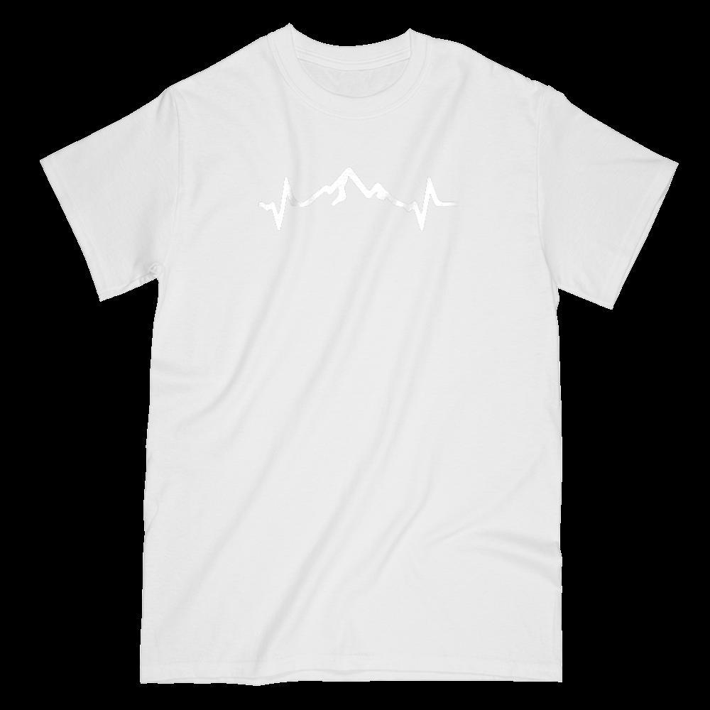 Mountain Pulse Heart Beat Outdoors (mens) Graphic Tee Graphic T-Shirt Tee BOXELS
