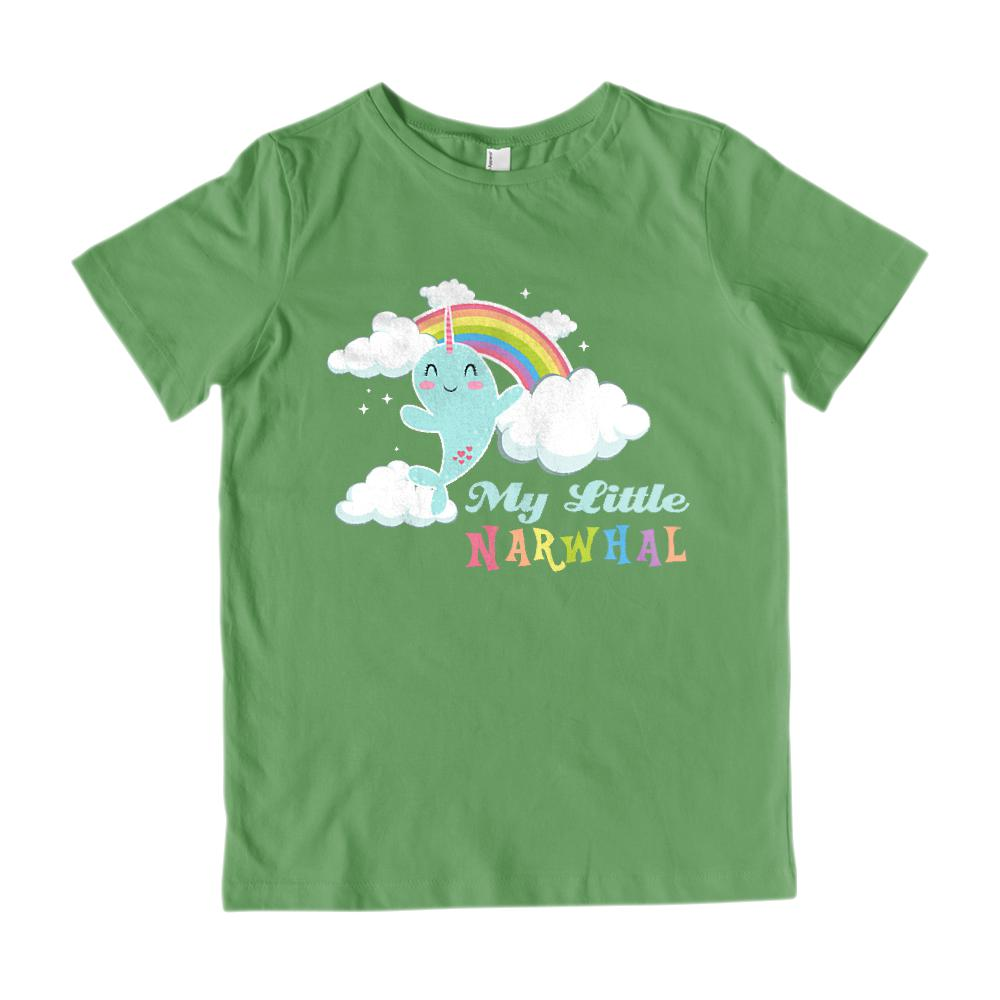 My Little Narwhal (kids) Pony Parody Cloudy Magical Tee Graphic T-Shirt Tee BOXELS
