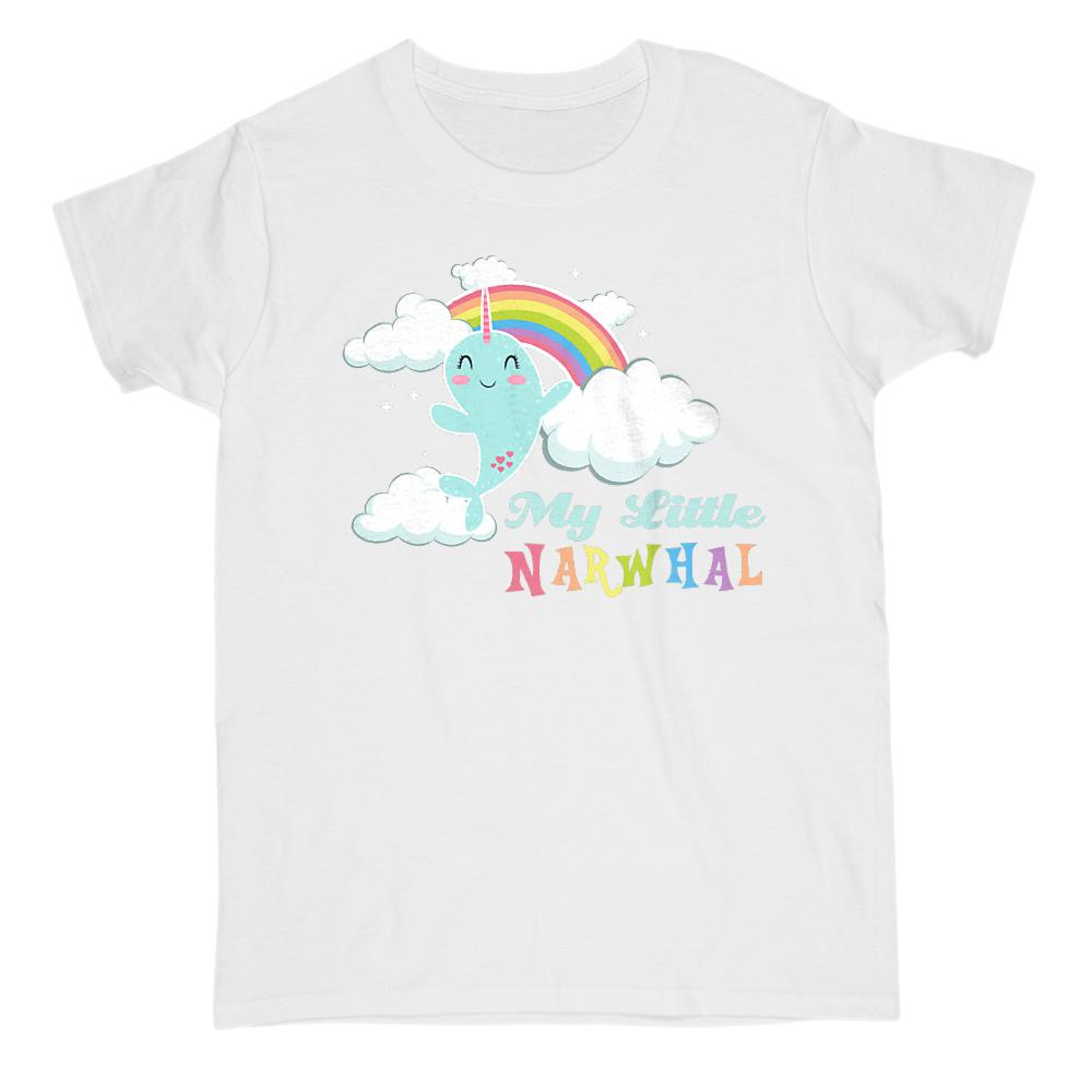 My Little Narwhal (women's gildan tee) Pony Parody Cloudy Magical Tee Graphic T-Shirt Tee BOXELS