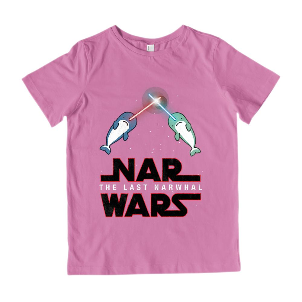 Nar Wars The Last Narwhal (kids) Space Saber light Star Graphic Graphic T-Shirt Tee BOXELS
