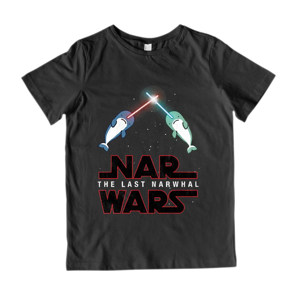 Nar Wars The Last Narwhal (kids) Space Saber light Star Graphic