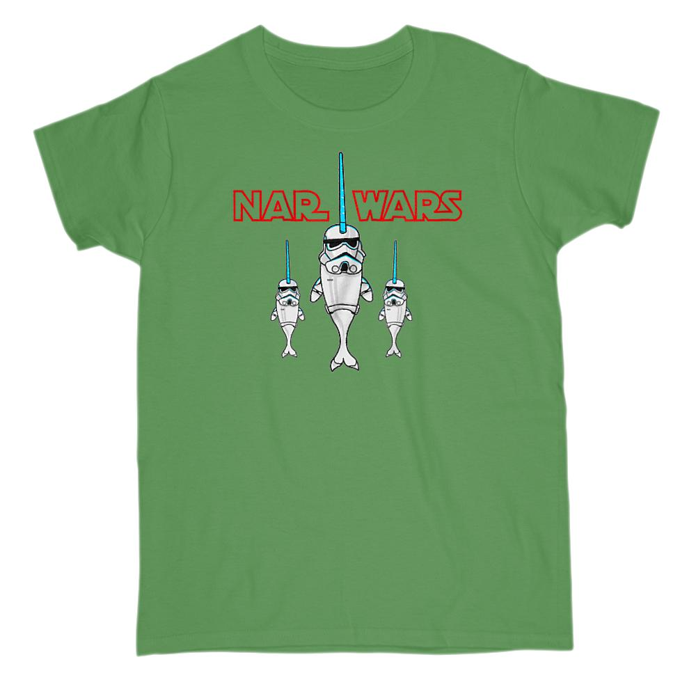 Nar Wars Trooper Narwhal (adults) Saber Star Graphic T-Shirt Tee BOXELS