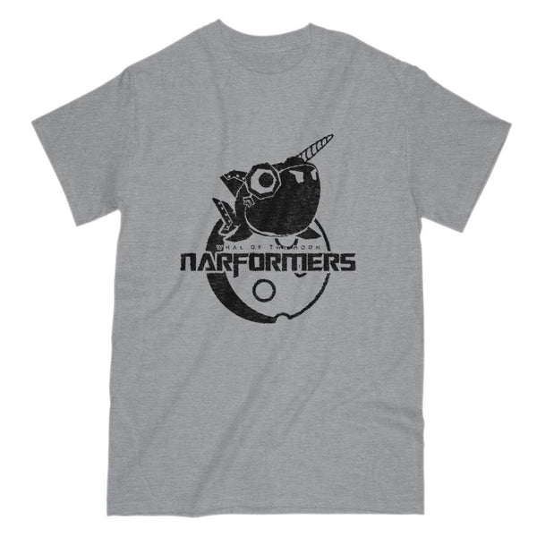 Narformers Robotic Narwhal transformer Parody Graphic Tee Graphic T-Shirt Tee BOXELS