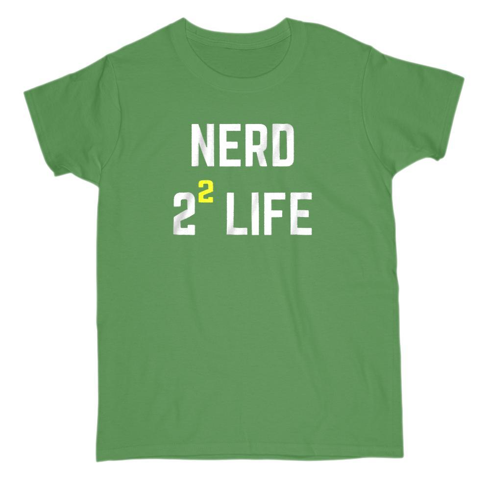 Nerd 2 Squared 4 Life Funny Math Geek T-Shirt Graphic T-Shirt Tee BOXELS
