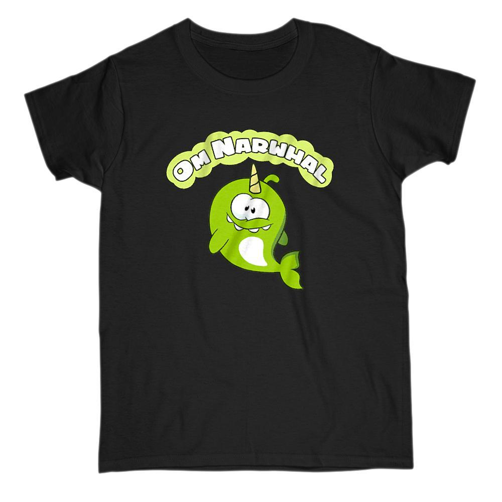 Om Narwhal Candy Loving App Movie Parody Graphic Tee Graphic T-Shirt Tee BOXELS