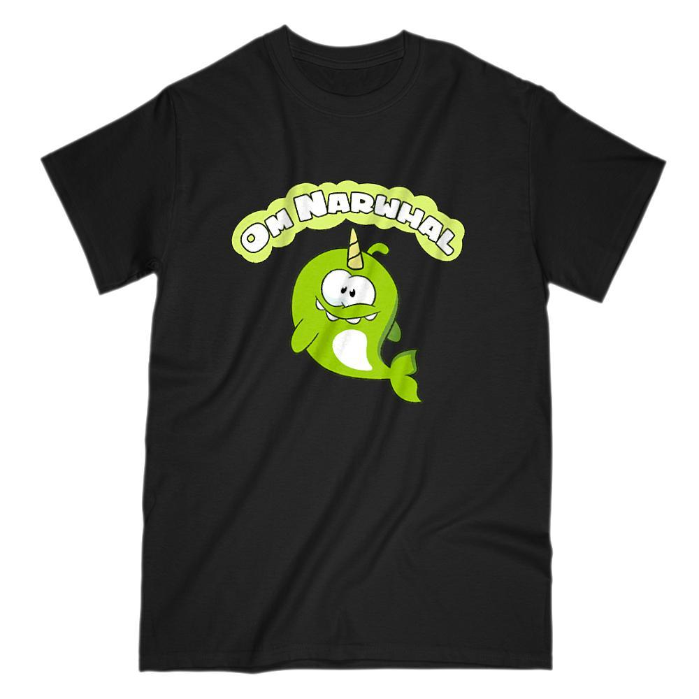 Om Narwhal Candy Loving App Movie Parody Graphic Tee