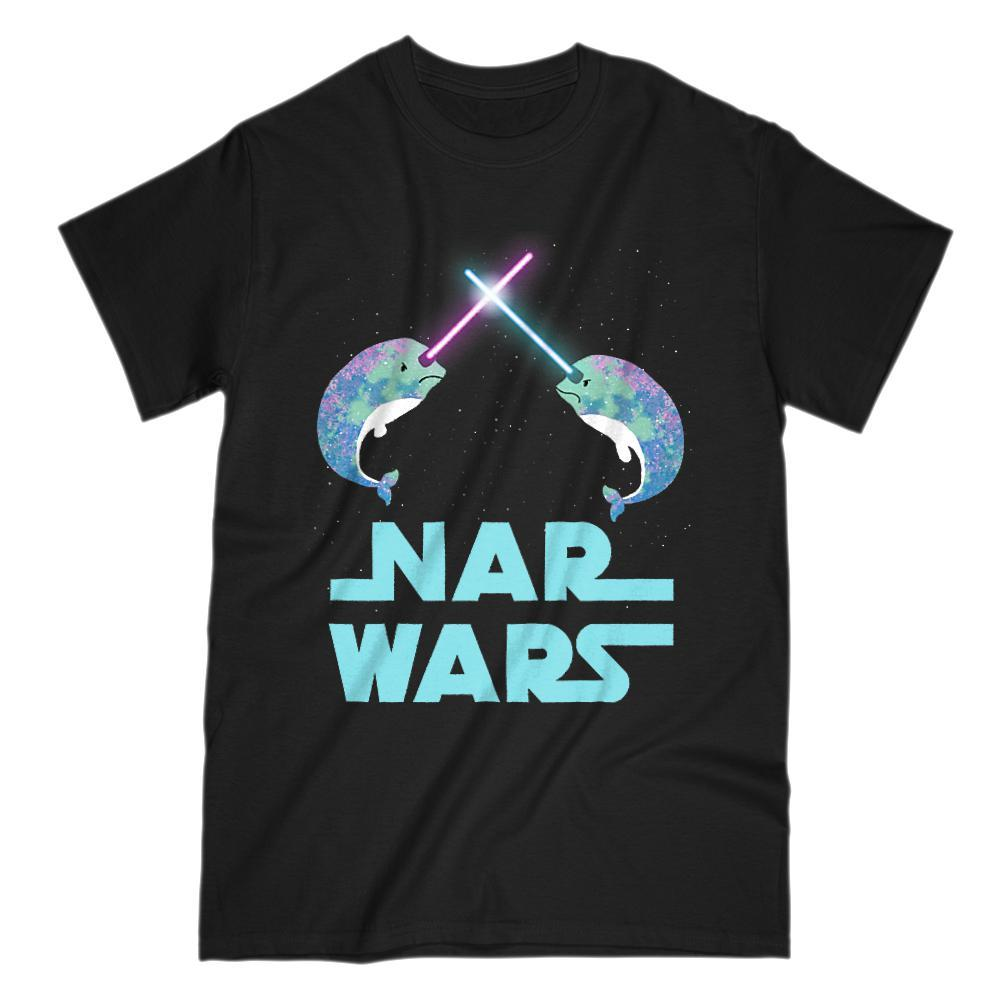 Original Nar Wars Narwhal Saber Light Space Star T-Shirt