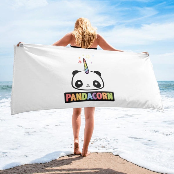 Original Pandacorn Soft Cozy Beach Towel Graphic T-Shirt Tee BOXELS