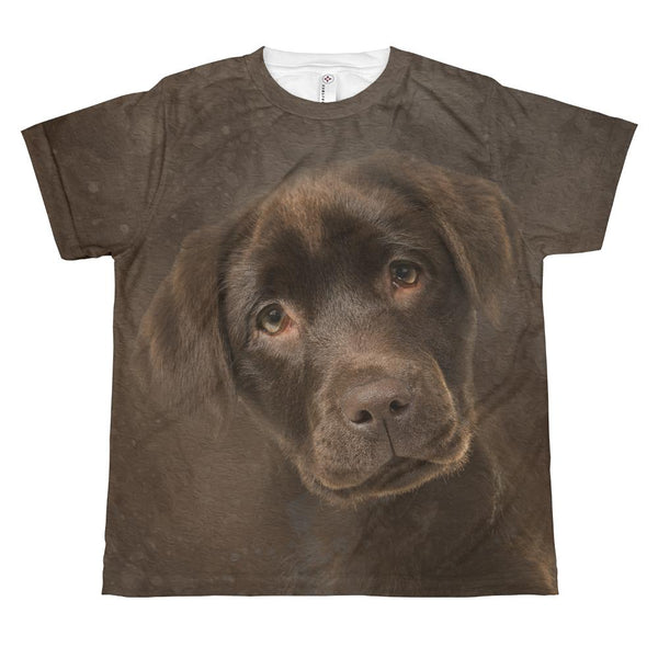 Original Puppy Lab Art All Over Print T-Shirt Graphic T-Shirt Tee BOXELS