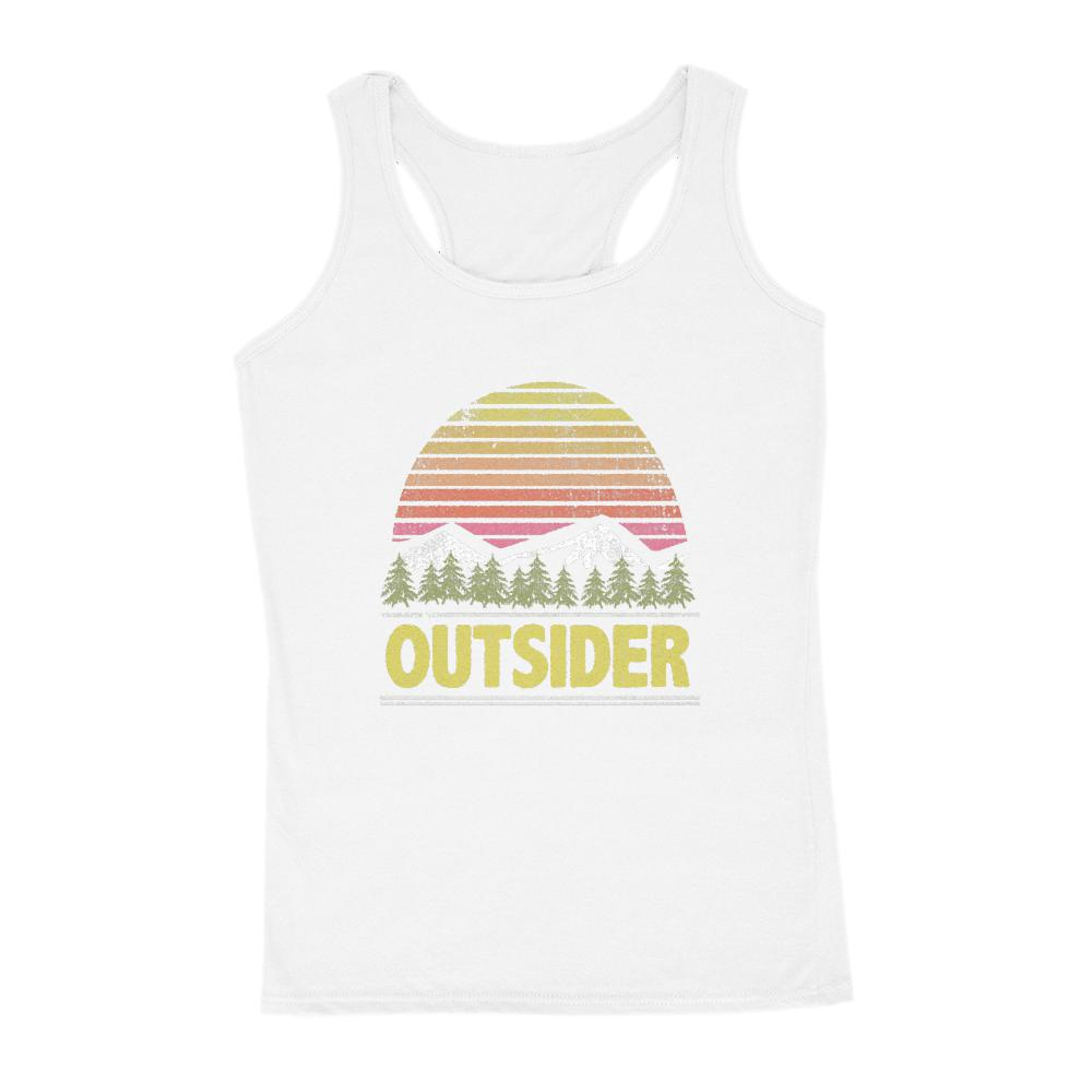 Outsider Sunset Mountain Scene Women's Tank Graphic T-Shirt Tee BOXELS