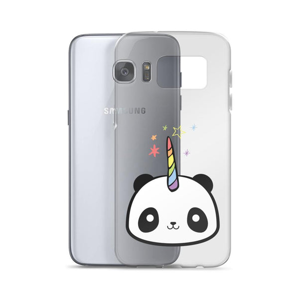 Pandacorn Samsung Case - Magical Kawaii Panda Unicorn Rainbow Horn & Stars Cuteness Graphic T-Shirt Tee BOXELS