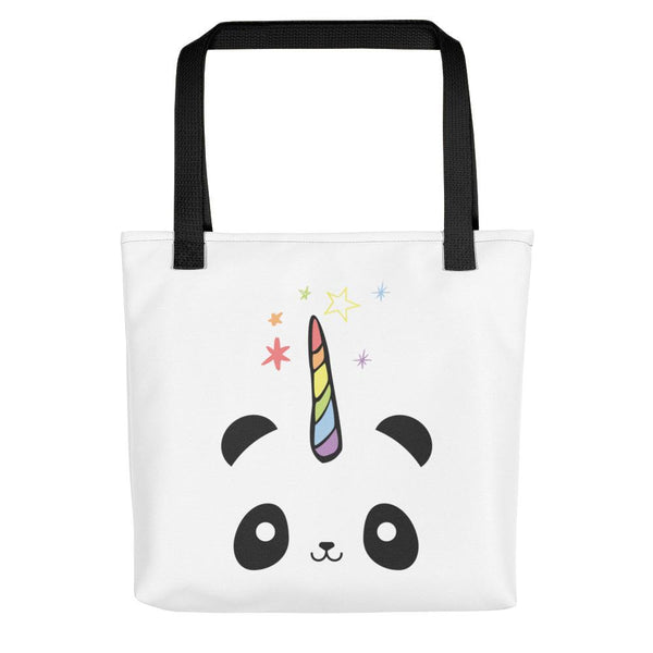 Pandacorn Tote bag - Magical Kawaii Panda Unicorn Rainbow Horn & Stars Cuteness Graphic T-Shirt Tee BOXELS