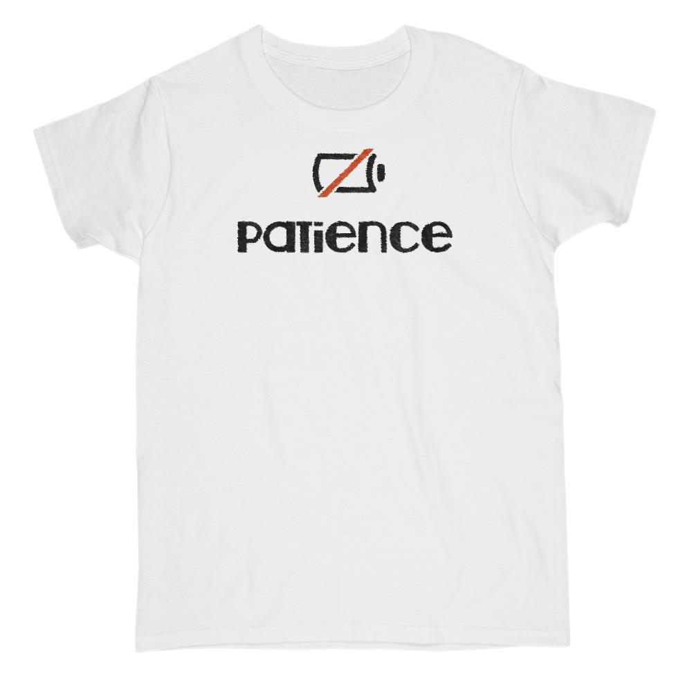 Patience Battery Depleted Graphic T-shirt Graphic T-Shirt Tee BOXELS